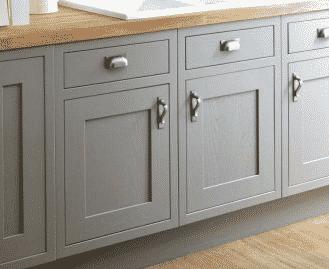 portes d'armoires de cuisine encastrées